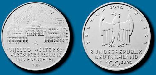 100 Euro Goldmünze UNESCO-Welterbe Würzburg