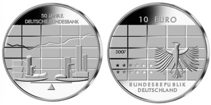 10 Euro Gedenkmünze Deutsche Bundesbank