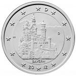 2 Euro Münze Bayern 2012