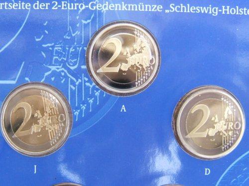 Fehlprägung von 2 Euro Münze Holstentor 2006