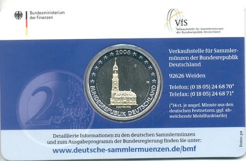 2 Euro Hamburg Coincard