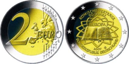 2 Euro Gemeinschaftsausgabe Römische Verträge