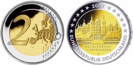 2 Euro Gedenkmünze Schweriner Schloss