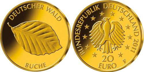 20 Euro Goldmünze Buche
