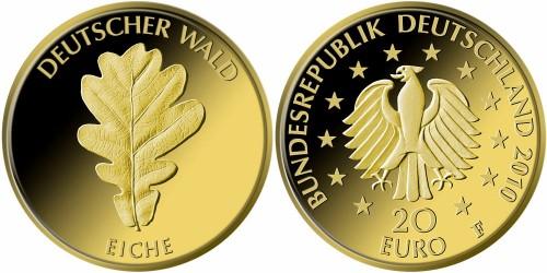 20 Euro Goldmünze Eiche 2010