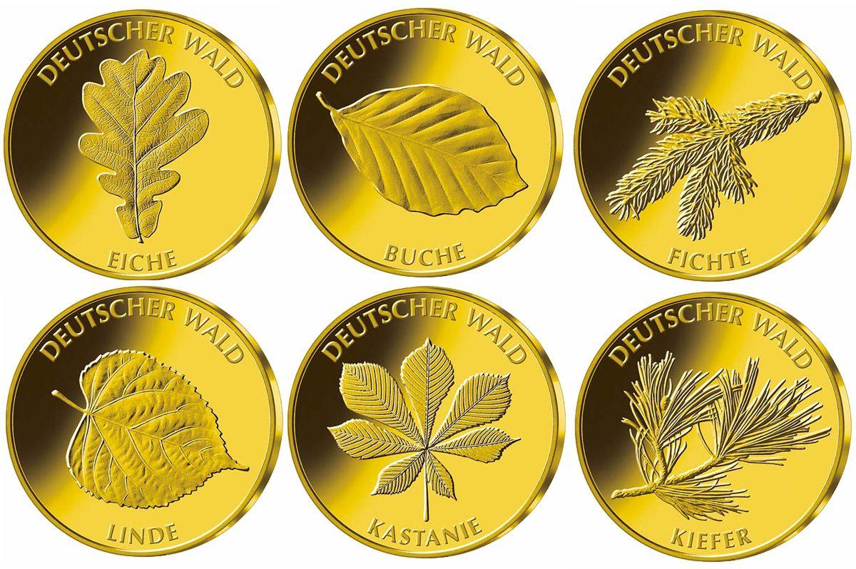 20 Euro Goldmünzen Serie Deutscher Wald