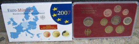 Kursmünzensatz Deutschland Spiegelglanz 2007