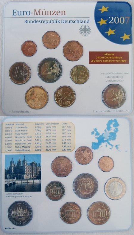 Kursmünzensatz Deutschland Spiegelglanz