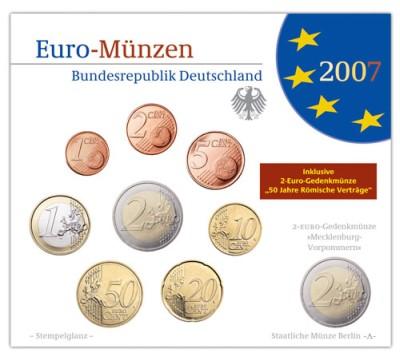 Kursmünzensatz Deutschland Stempelglanz 2007