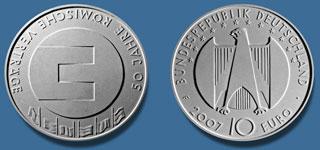 4. Platz 10 Euro Münze 50 Jahre Römische Verträge