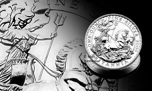 Britannia Silbermünze 2009