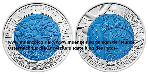 Niob Münze 2010 aus Österreich