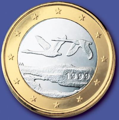 1 Euro Münze Finnland 1999