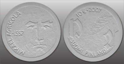 10 Euro Gedenkmünze Mikael Agricola aus Finnland