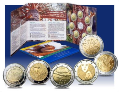 2 Euro Gedenkmünzen-Set Finnland 2009