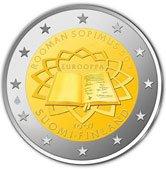 Finnische 2 Euro Münze Römische Verträge
