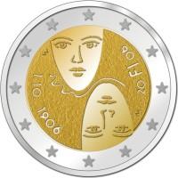 2 Euro Gedenkmünze allgemeines Wahlrecht - Finnland 2006