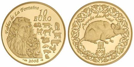 Goldmünze zum Jahr der Ratte 2008