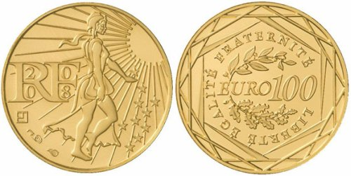 100 Euro Goldmünze Semeuse Frankreich