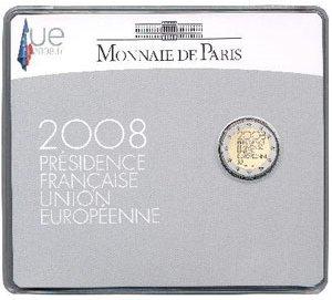 Coincard 2 Euro Gedenkmünze Frankreich