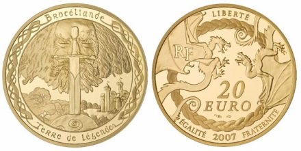 20 Euro Münze Brocéliande Frankreich 2007