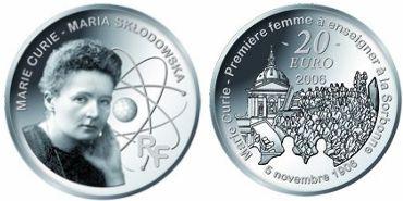 20 Euro Gedenkmünze Marie Curie - Frankreich 2006