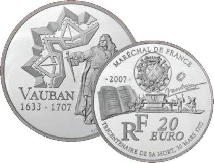Silbermünze Marschall von Frankreich - Vauban