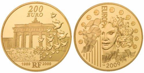 200 Euro Goldmünze Berliner Mauerfall