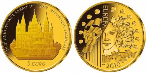 kleinste Goldeuro-Münze