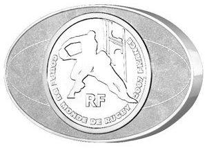 Rugby Gedenkmünze aus Frankreich