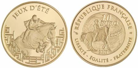 10 Euro Goldmünze Peking aus Frankreich