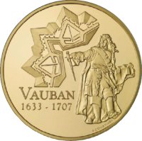 Goldmünze Vauban Frankreich 2007