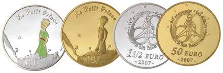 Gedenkmünze Frankreich der kleine Prinz 2007