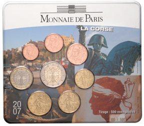 Kursmünzensatz Korsika