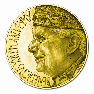 Euro Vatikan Gold Papst 2010 Rückseite