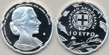 10 Euro Gedenkmünze Maria Callas