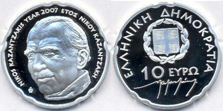 10 Euro Münze Nikos Kazantzakis