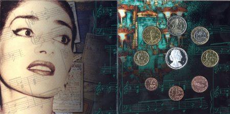 Maria Callas Kursmünzensatz Griechenland