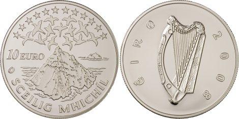 10 Euro Münze Skellig Michael aus Irland