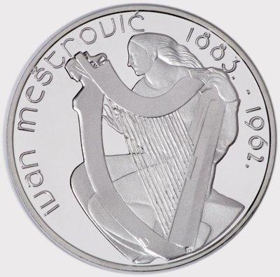 15 Euro Münze Ivan Mestrovic 2007