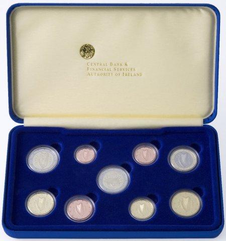 Polierte Platte Kursmünzensatz Irland 2007