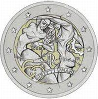 2 Euro Münze Menschenrechte aus Italien