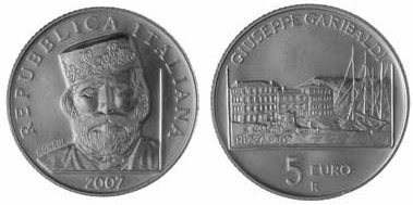 Garibaldi Gedenkmünze aus Italien