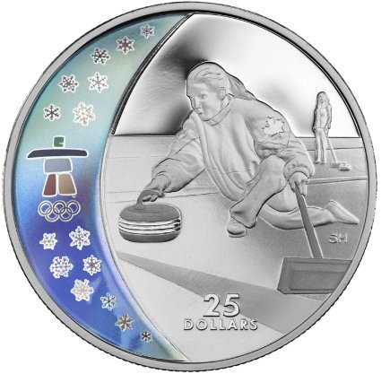 25 Dollar Münze Curling aus Kanada 2007