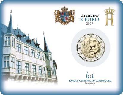 2 Euro Coincard Luxemburg 2007