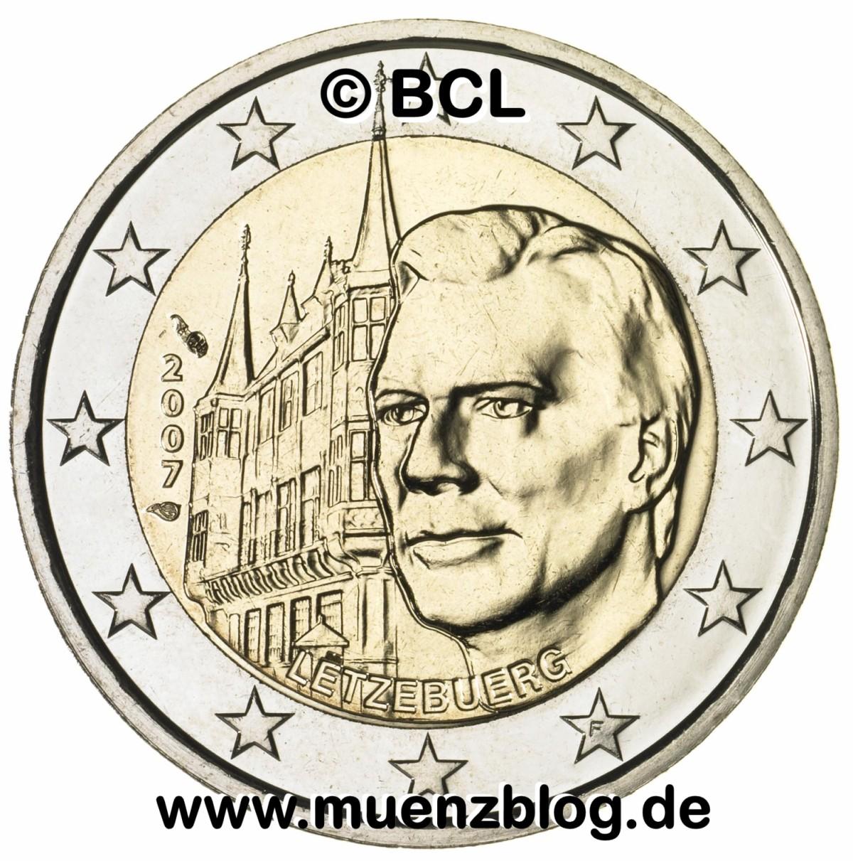 Bild Der 2 Euro Gedenkmünze Luxemburg 2007