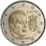 2 Euro Münze Wappen Luxemburg 2010