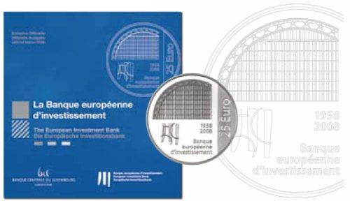 25 Euro Münze Investitionsbank Luxemburg