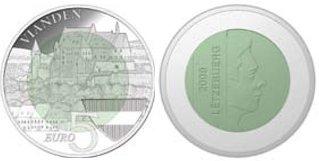 5 Euro Niobmünze Burg Vianden