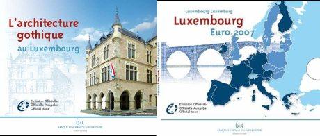 Stempelglanz-Kursmünzensatz 2007 aus Luxemburg